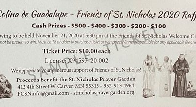 Colina de Guadalupe – Friends of St. Nicholas 2020 Raffle